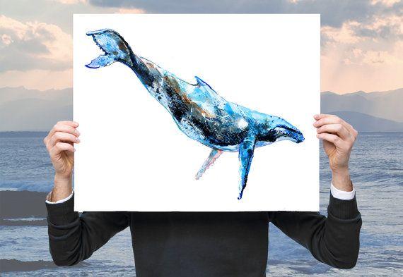 Whale art whale print humpback whale prints par AWildLife sur Etsy