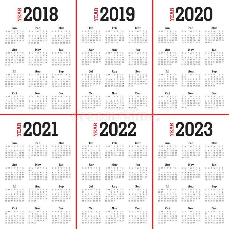 Monthly Calendar 2022 2023.Year 2018 2019 2020 2021 2022 2023 Calendar Vector Design Template Simple And Sponsored S Calendar Vector Calendar Printables Printable Calendar Template