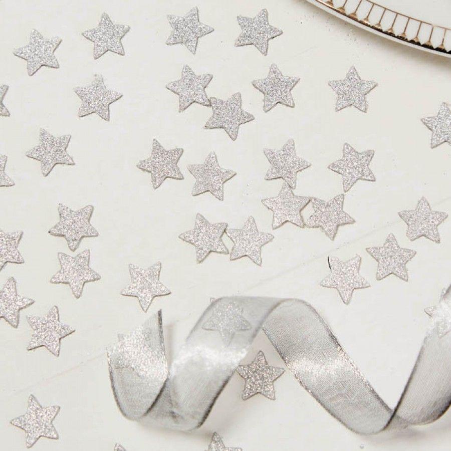 Tafelconfetti Sterren Zilver Metallic Perfection