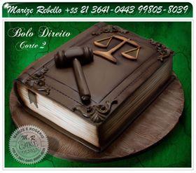 sculpture cake book Bolo escultura tema direito.