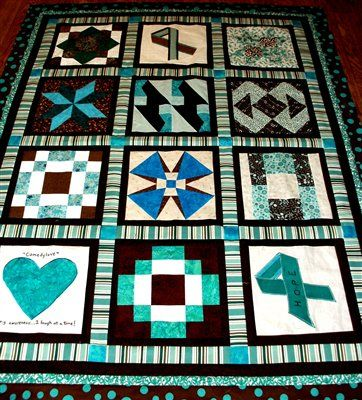 Ovarian cancer quilt pattern, Patch diabetic - Ovarian cancer quilt pattern