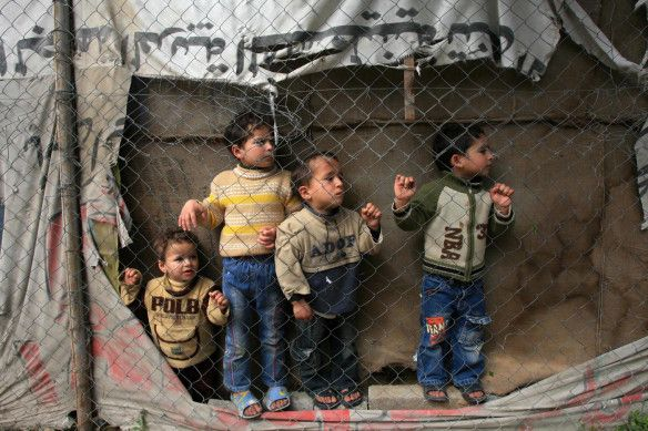 Palestinian Children watching