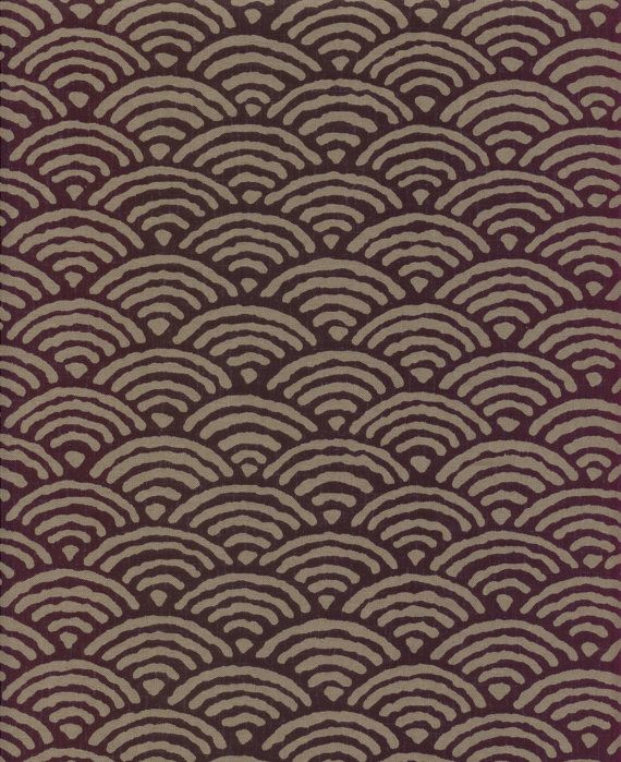 1/2 yard Large Waves Japanese Indigo Printed by QuiltingFoxes, $6.00