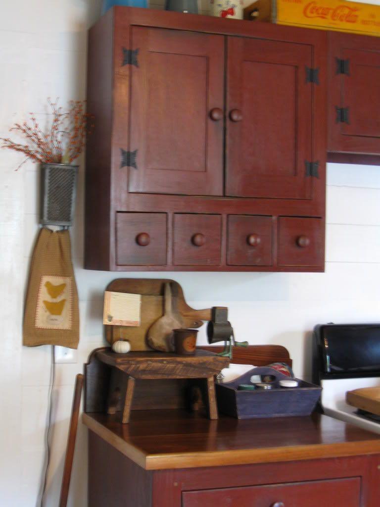 Küchendesign schwarz und rot kitchen cabinets  primitive antiques u decor  pinterest