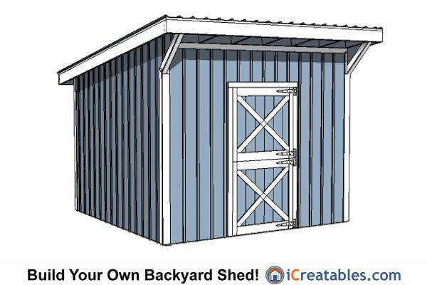 12x12 Shed Plans Build Your Own Storage Lean To Or Garage Shed Shed Plans Run In Shed Shed