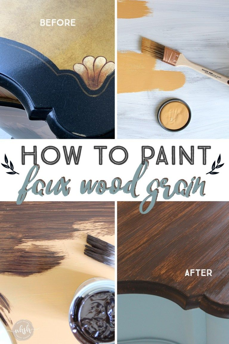How To Paint Faux Wood Grain On Any Surface Faux Wood Paint Faux Wood Staining Wood