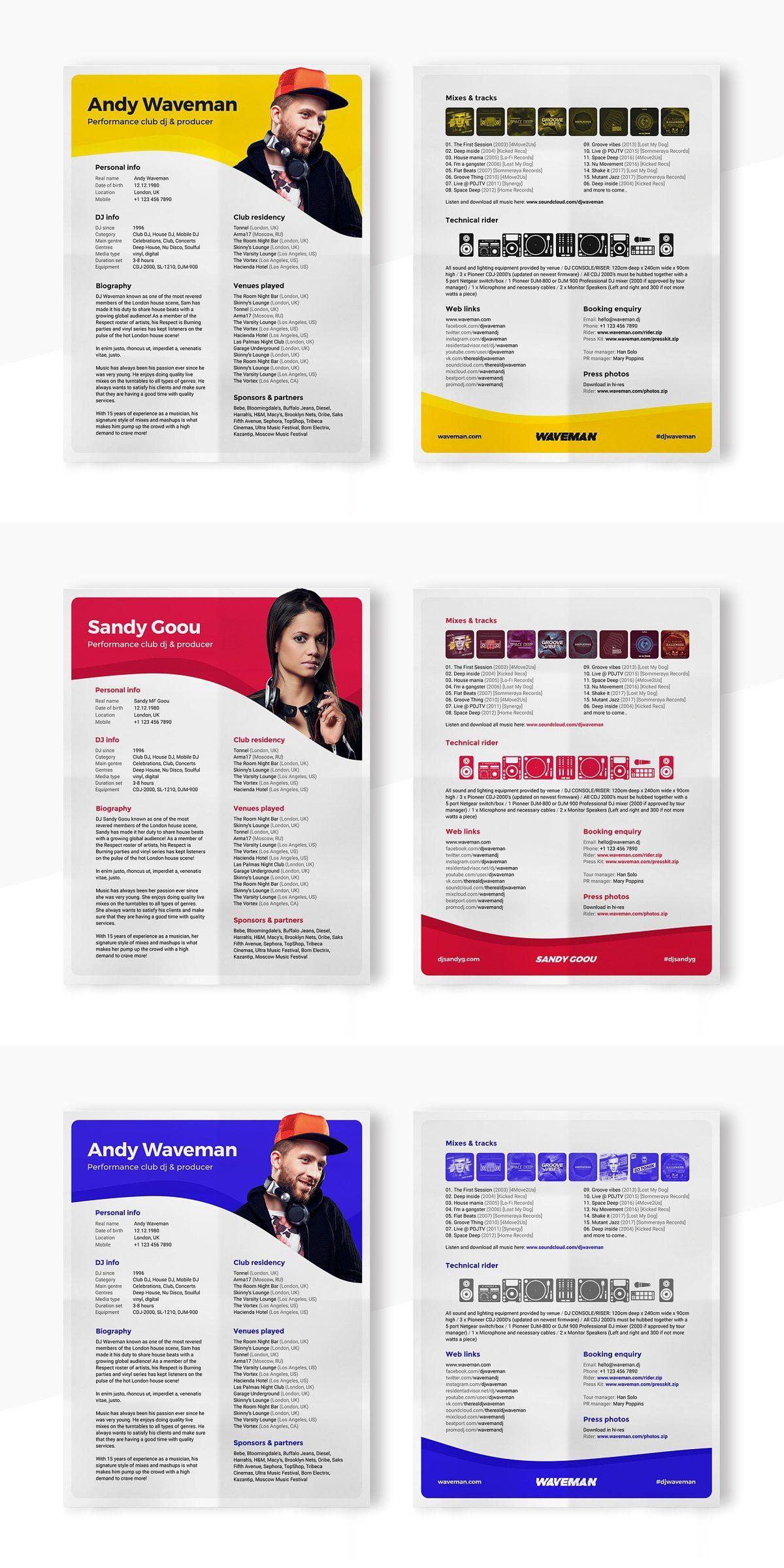 Dj press kit resume with images press kit press kit