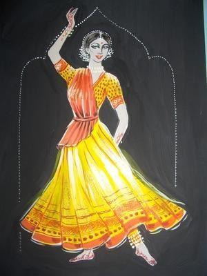 Эскизы костюмов для индийского танца