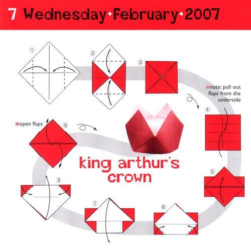 King Arthur's Crown paper hat #tutorial