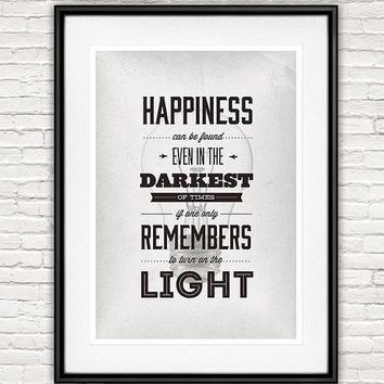 Harry potter poster inspirational quote nursery decor movie poster minimalist typography art black and white wall decor
