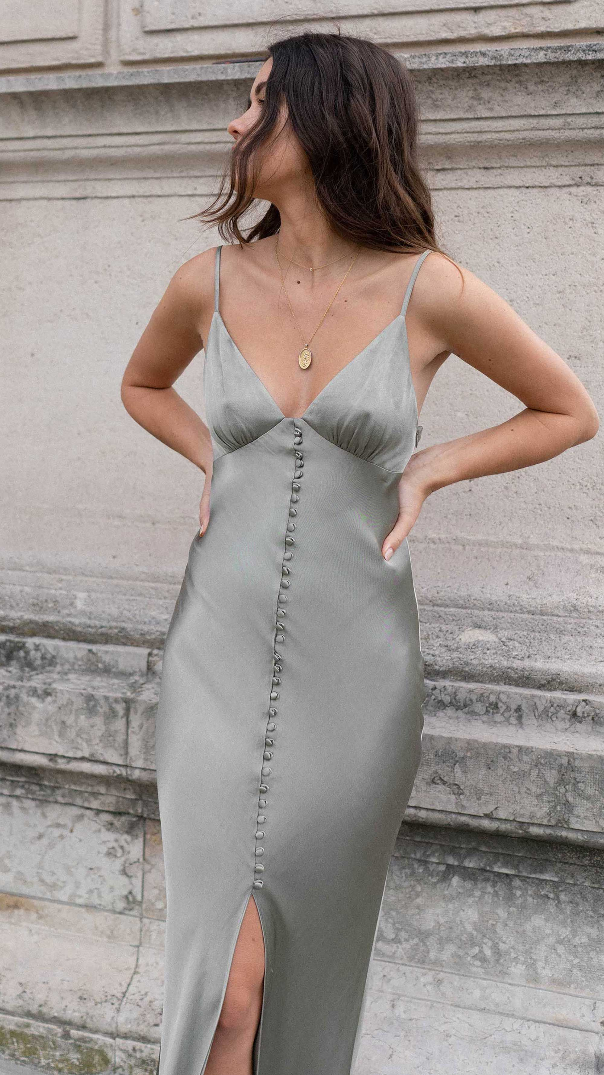 Night Out In Paris Sarah Christine Silk Slip Dress Fashion Dress Outfits