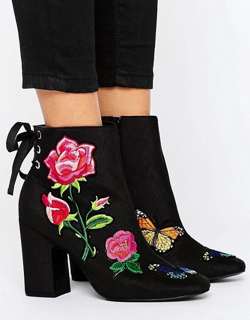 ASOS ETERNAL LOVE Patchwork Ankle Boots