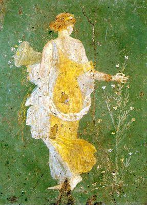 Flora (Chloris), Roman fresco, discovered in Villa di Varano/Ariana, Castellammare di Stabia, 1st century aD (Museo Archeologico Nazionale, Naples).