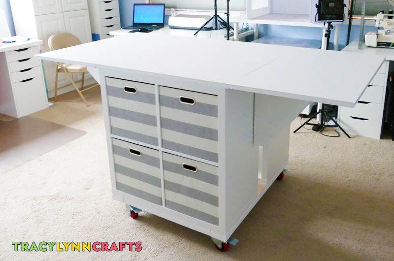 Drop Leaf Craft Table Craft Table Craft Room Ikea Craft Room