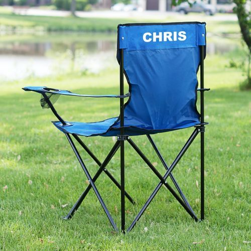Personalized Sports Folding Lawn Chair Lake House Gifts Lawn Chairs Sport Chair