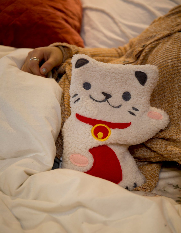 Huggable Lucky Cat Cooling Heating Pad Cosas Kawaii Kawaii