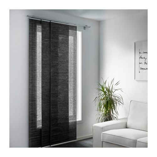 Fonsterviva Panel Curtain Dark Gray 24x118 Ikea Ikea Panel Curtains Sliding Curtains Panel Curtains