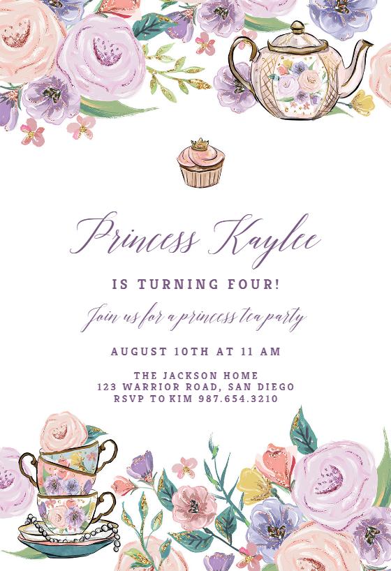 princess tea party birthday