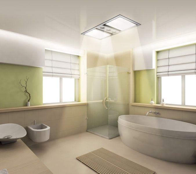 Dual Bathroom Heat Lamp Idea