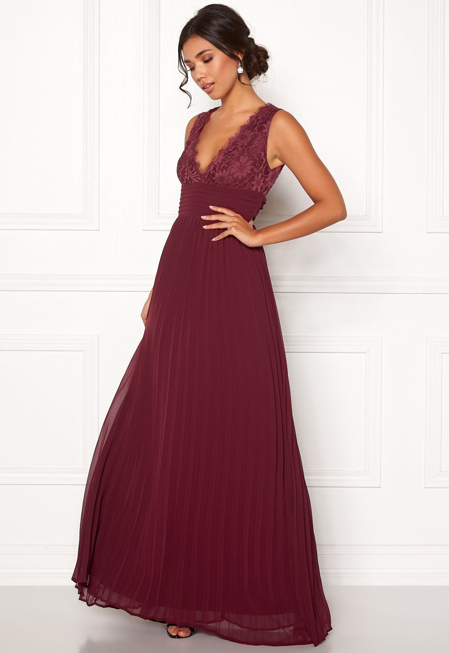Bubbleroom Marianna Lace Top Gown Wine Red Bubbleroom Lace Top Gown Beautiful Long Dresses Gowns