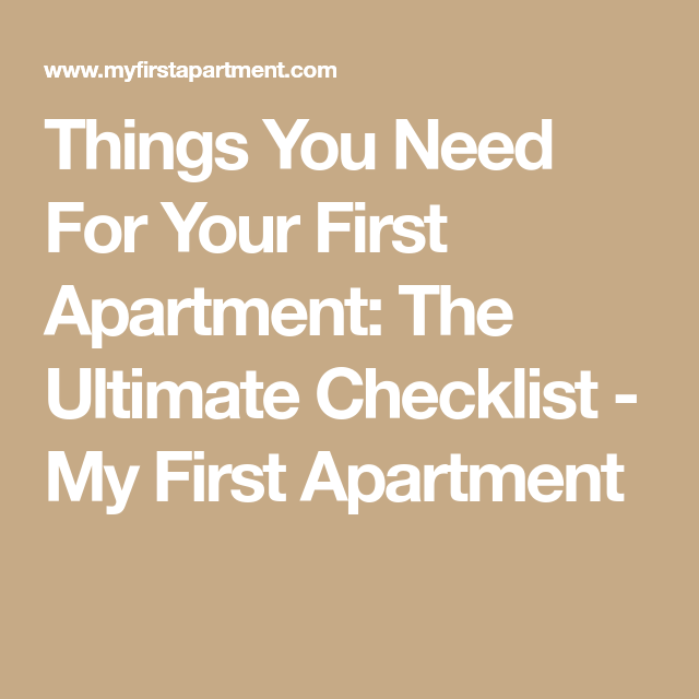 Things You Need For Your First Apartment: The Ultimate Checklist images