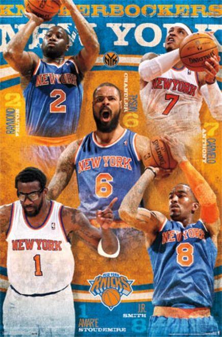 New York Knicks Team 13 Poster Print 24 X 36 Item Tiarp13091 Knicks Team New York Knicks Knicks