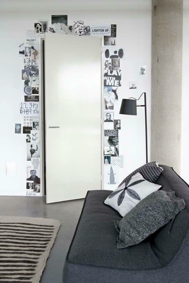Work out from the door frame up that tall wall!!! Ooooh | Woonkamer ...