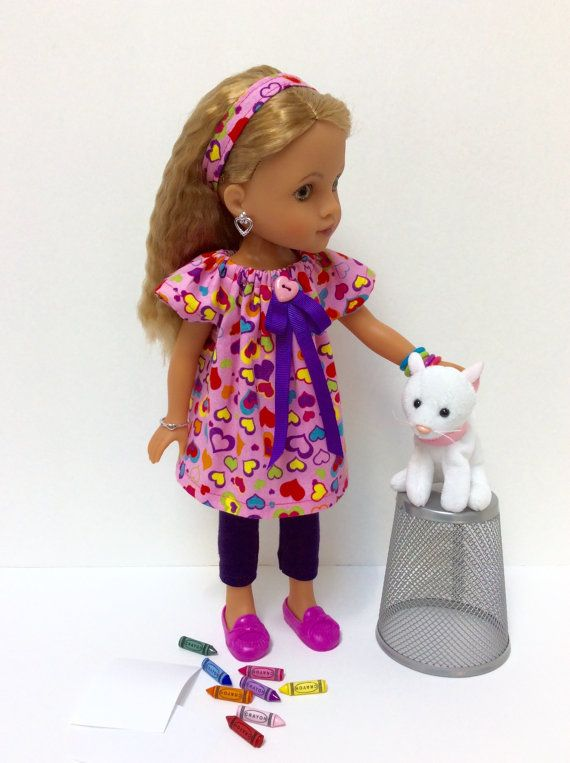 14 Inch Hearts For Hearts Doll Multicolored Heart by JGooseandCo
