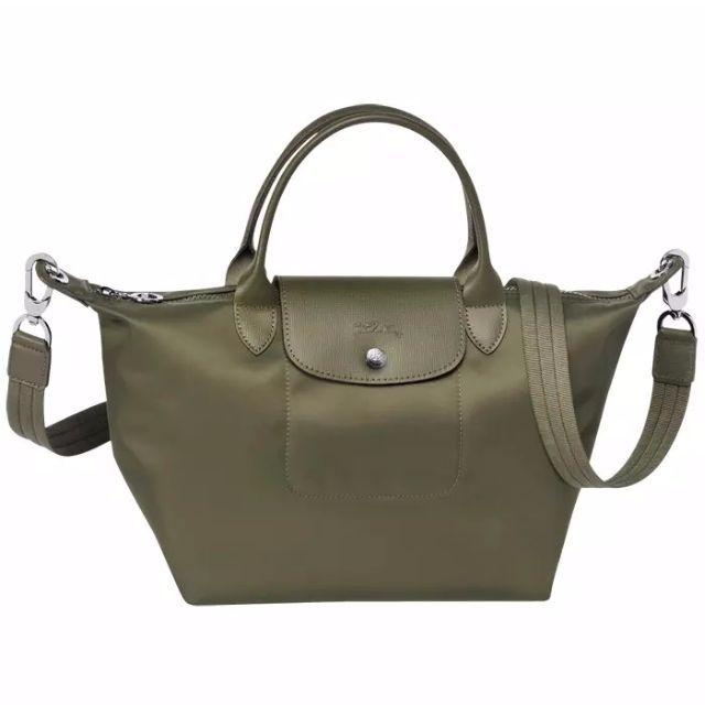932e78096ed Authentic Longchamp Neo Tote Crossbody Bag Small Short Handle Khaki Green