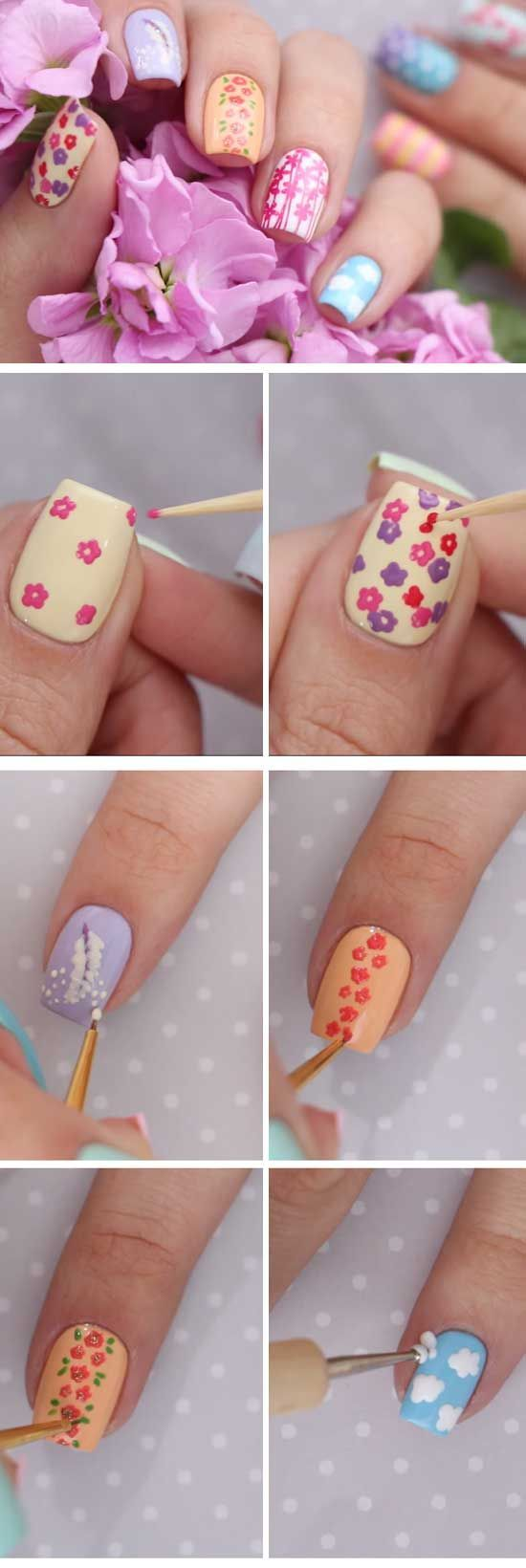 easy spring nail designs for short nails springnaildesigns