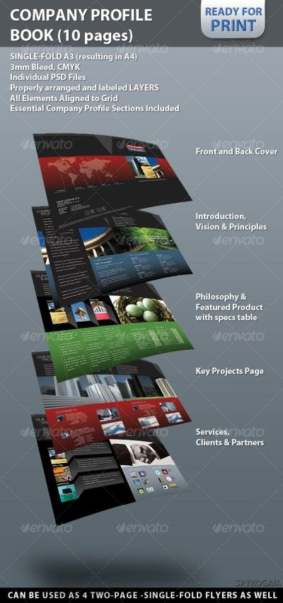 Graphicriver Professional Company Profile Brochure 10 pages 122065 - company business profile