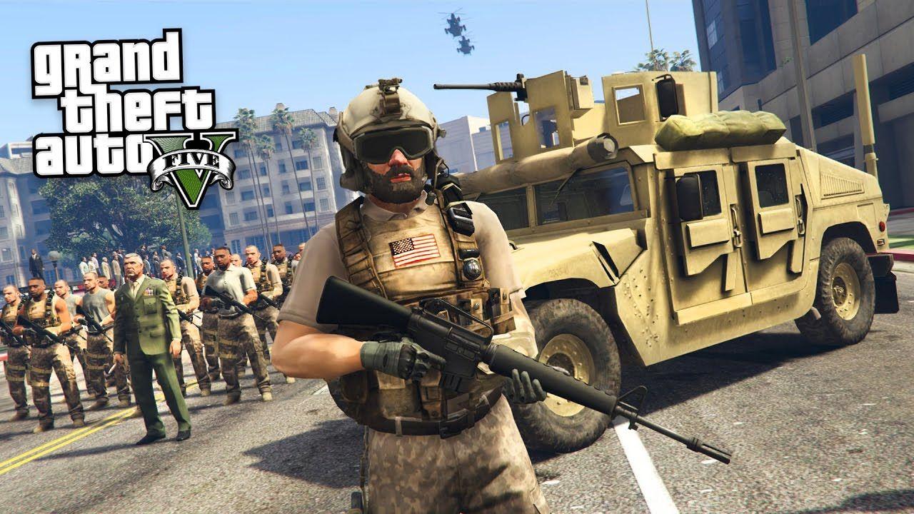 MILITARY TAKEOVER!! (GTA 5 Mods) | the lifes | Gta 5 mods