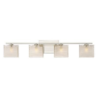 4 light bathroom fixture bronze quoizel westcap 4light wallmount bath fixture in brushed nickel with glass shade