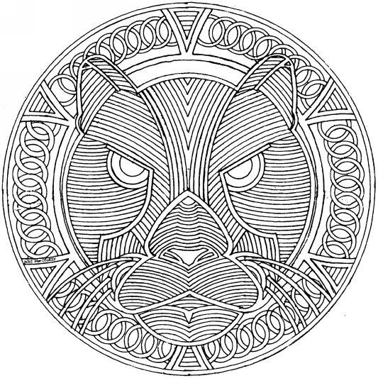 Mandala tigre #mandala #mandalas #coloriage | colores y estampados ...