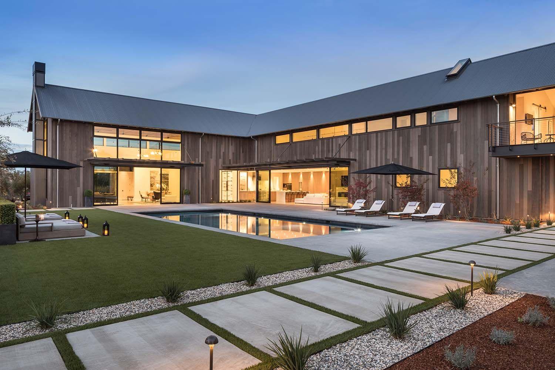 Modern farmhouseinspired residence in Napa Valley Art