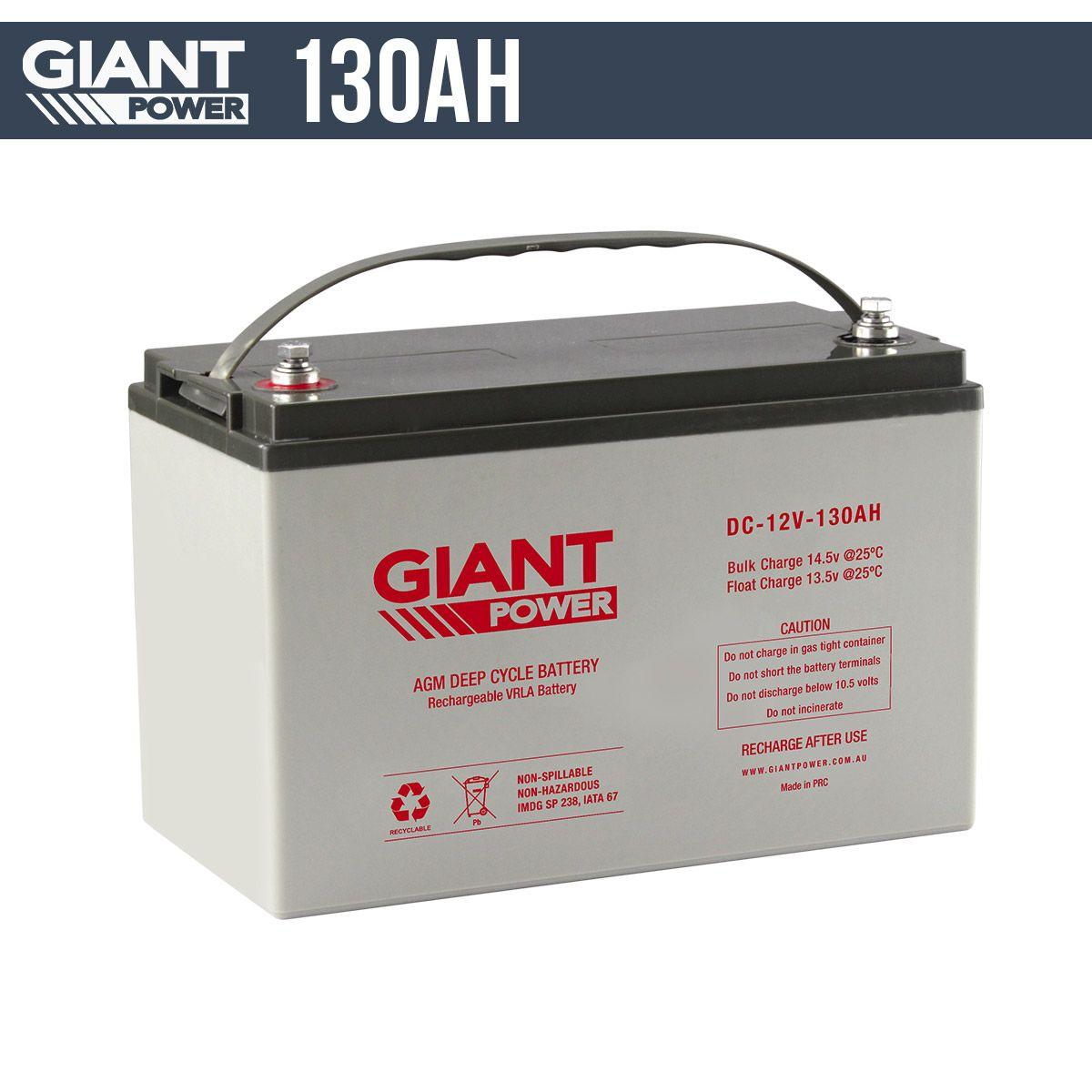 130AH 12V AGM Deep Cycle Battery Discount camping gear