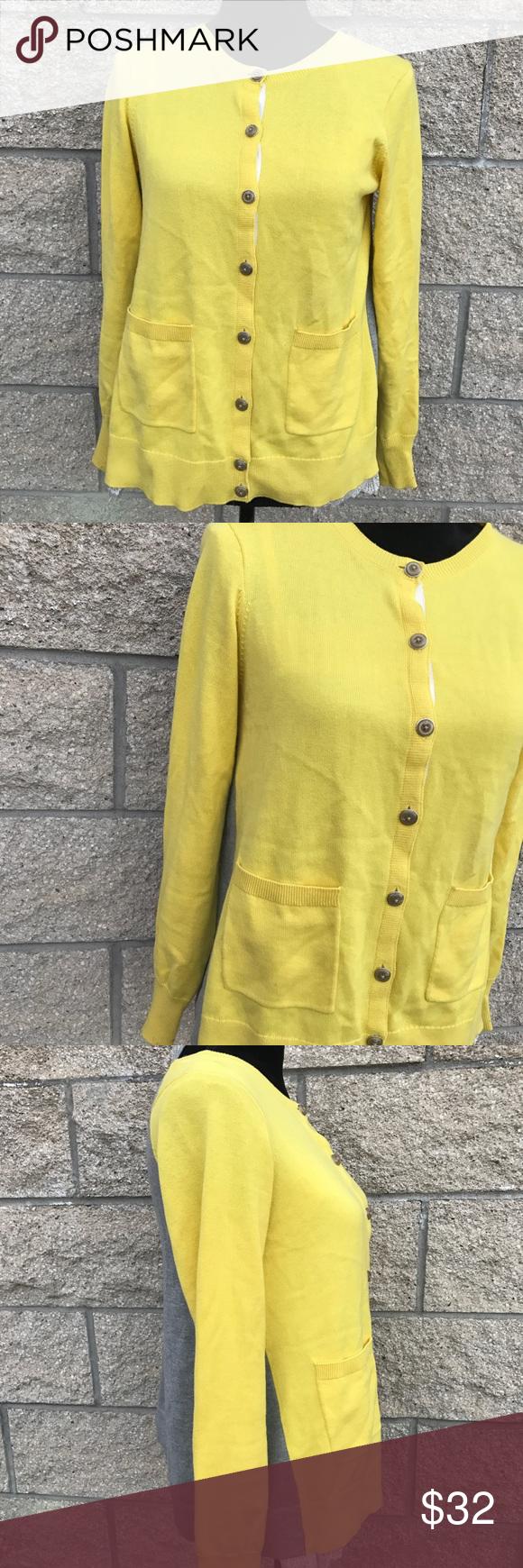 CAbi Love Carol Collection Yellow Gray Cardigan Yellow Gray Lace ...