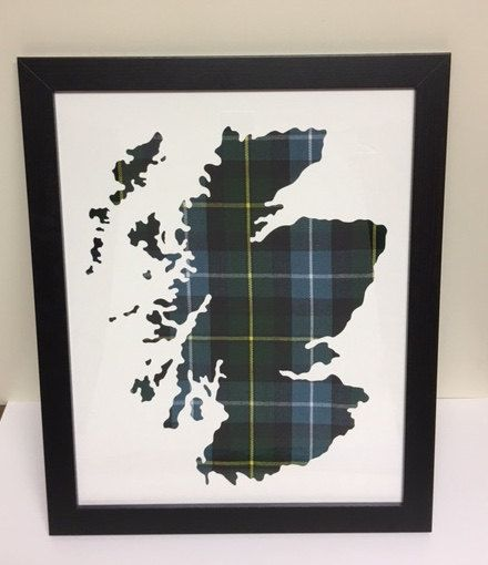 Wall Art Tartan Map Design Frame Country Outline Scotland Buy For Sale Etsy Craft Handcrafted Handmade Tartan Decor Christmas Stall Ideas Homespun