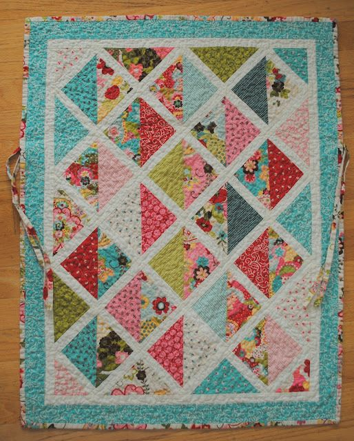 Car seat quilt from Charm pack - Moda Bake Shop.  Could do this with a layer cake for a lap quilt?