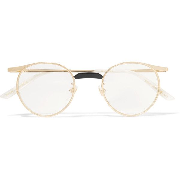 159a95025d Gucci Gucci - Round-frame Gold-tone Optical Glasses - one size ( 410) ❤  liked on Polyvore featuring accessories