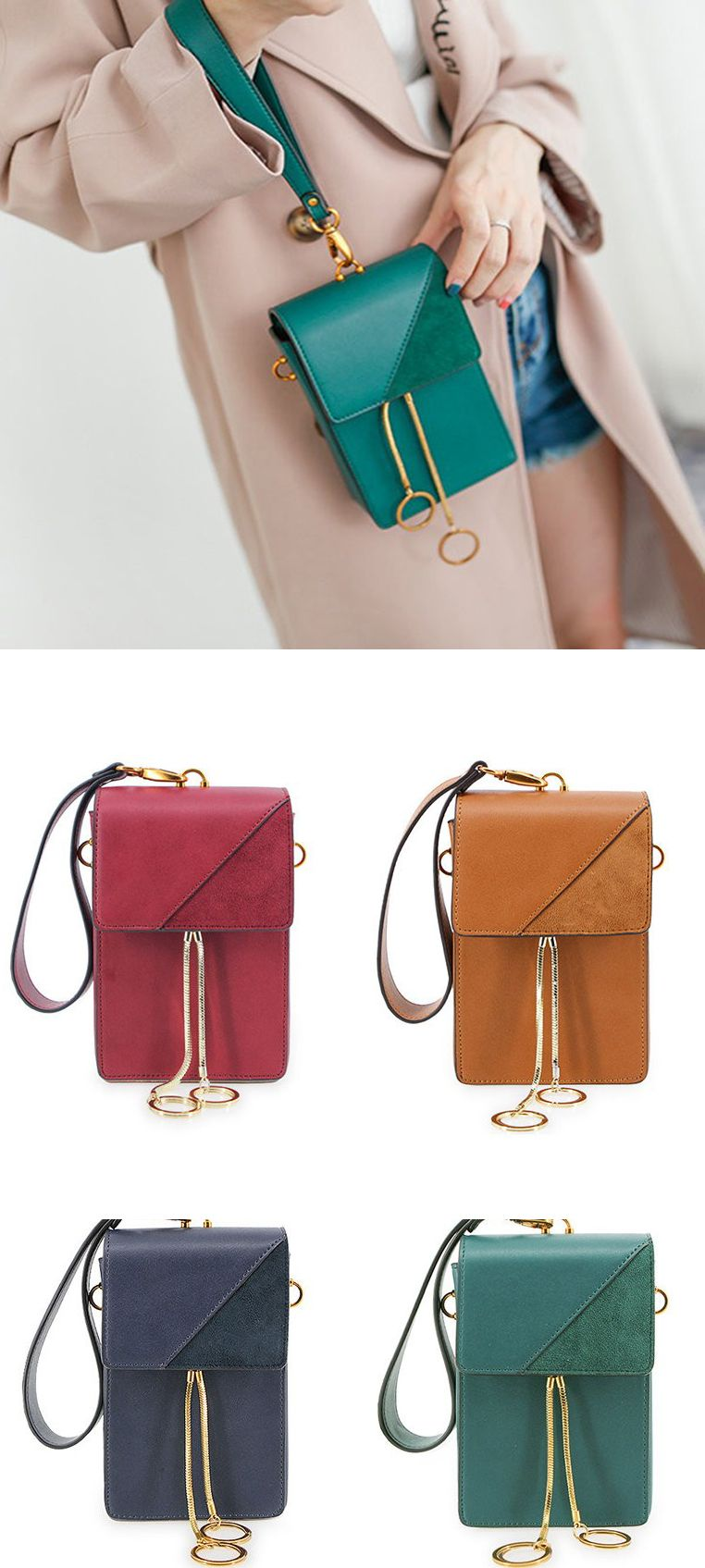 Women Stylish 5.5inch Phone Bag Flap Shoulder Bag Crossbody Bags ... 85feb37b99594