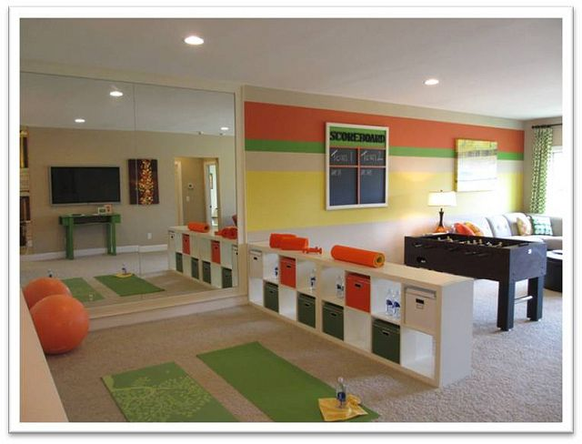 Playroom Exercise Room Colors Maybe Not But Layout Good