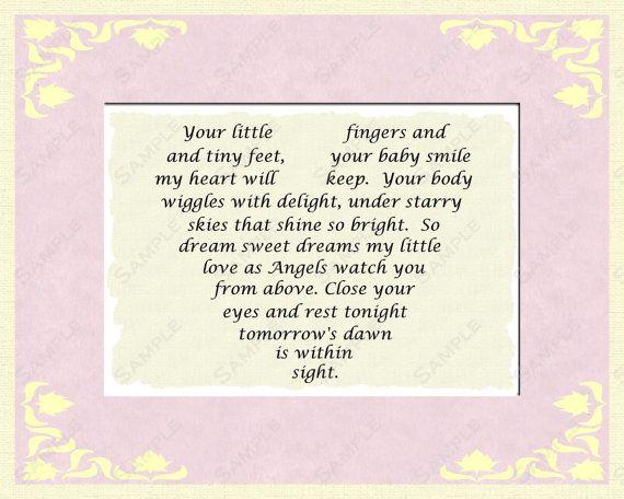 Newborn Baby Girl Baptism Christening Poem By Queenofheartgifts