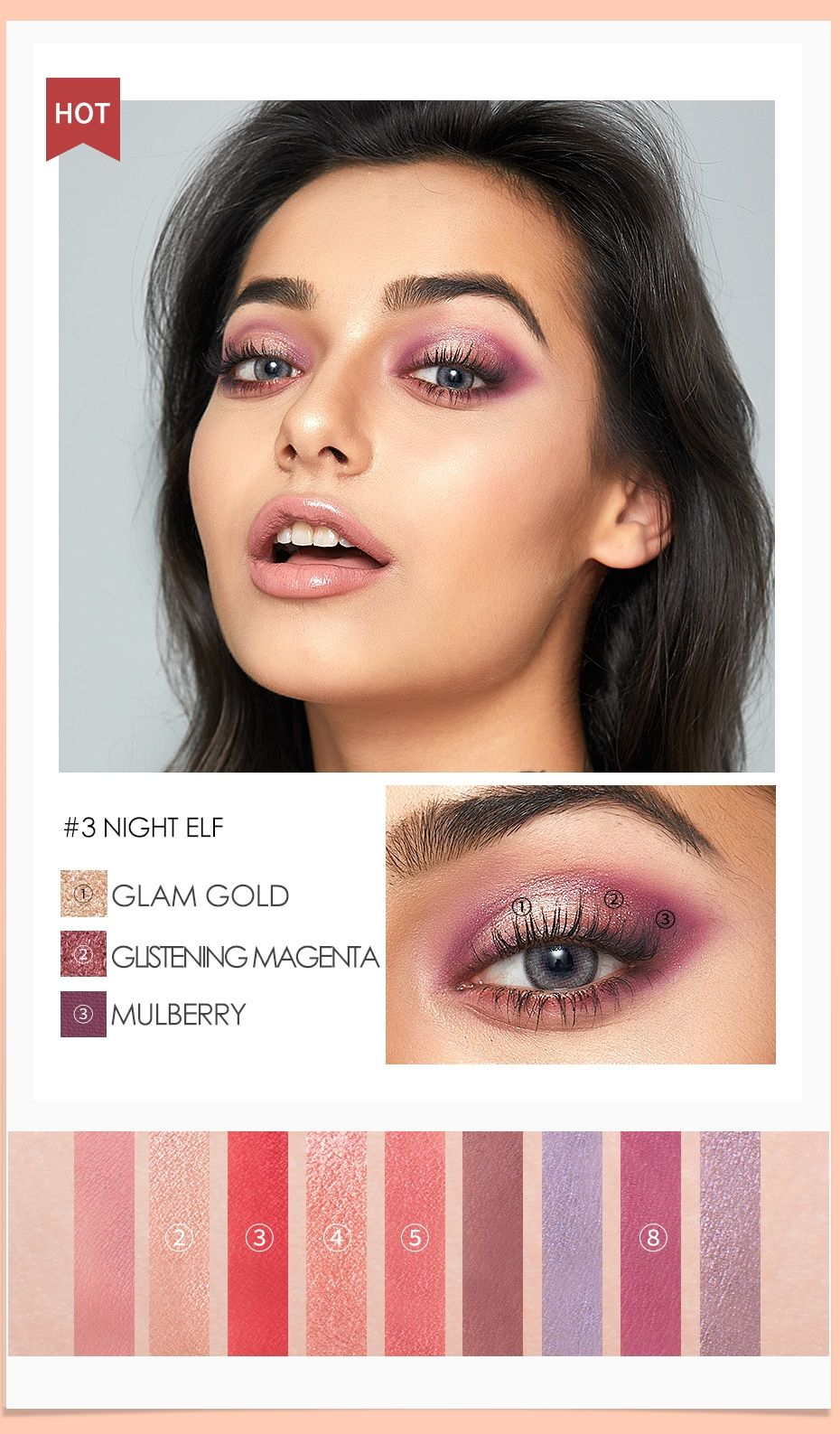 FOCALLURE Newest Eyeshadow Palette 9 Colors Matte Shadow