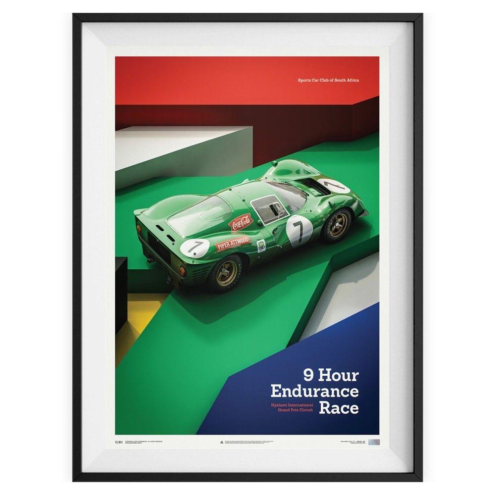 Poster Ferrari 412p Kyalami 1967 Avec Images