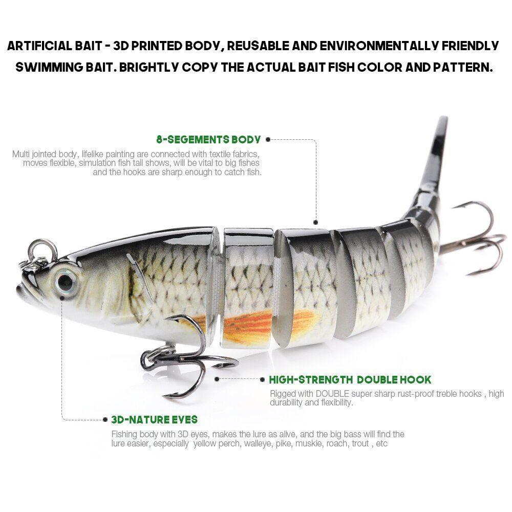Vtavta 1pc Lifelike Fishing Lures Jointed Bait 14cm 23g Crankbait