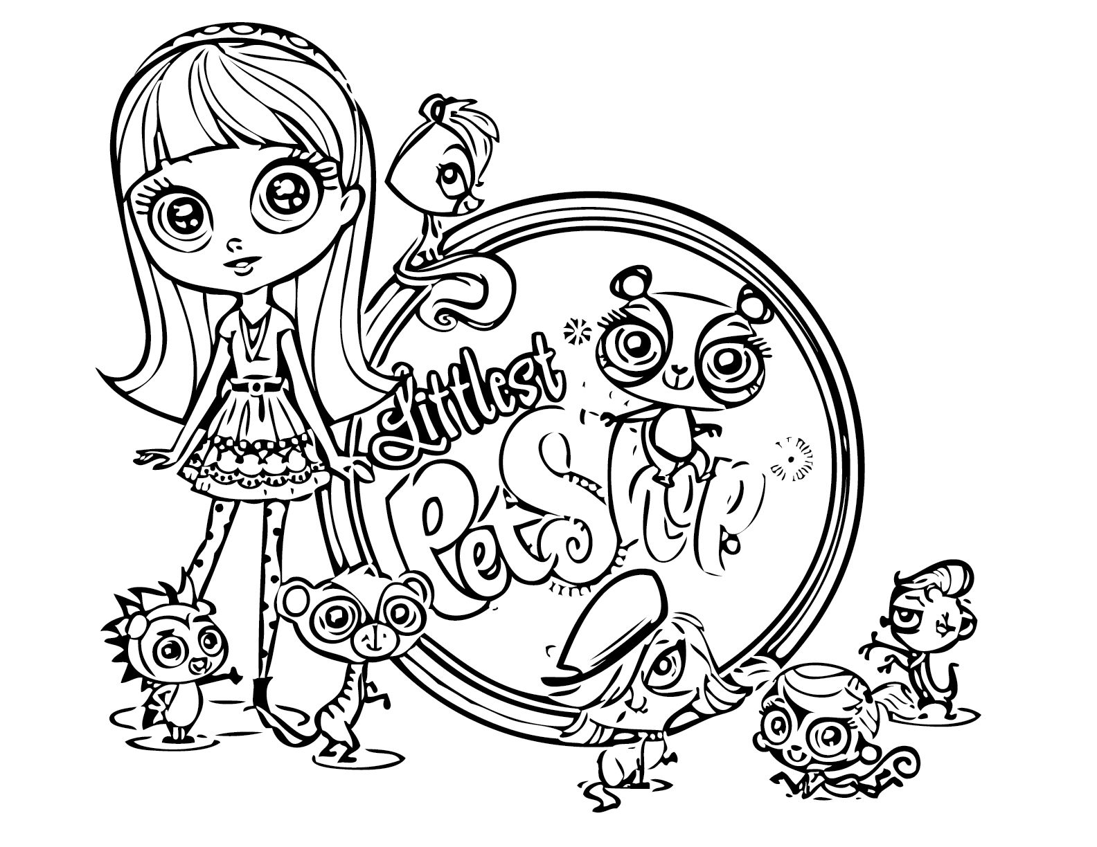 lps coloring pages horses - photo#12
