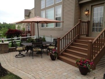 Best Paver Patio With Pit Seating Wall And Grill Trex Steps 400 x 300