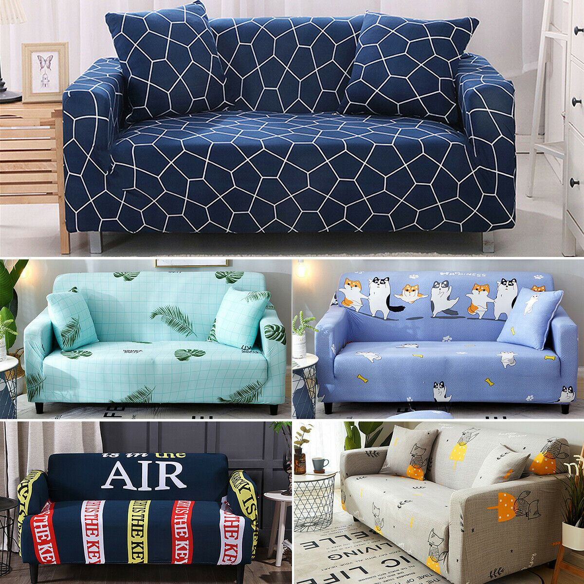 Hot 1 2 3 4 Seater Elastic Sofa Couch Covers Home Furniture Protector Slipcovers Grey Sofas Ideas Of Grey Sofas Grey Sof In 2020 Sofa Sale Kitchen Sofa Gray Sofa