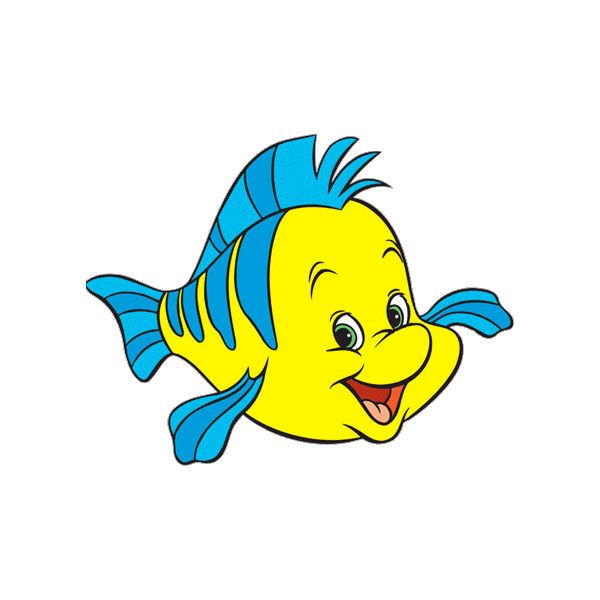 Cliparts e gifs linguado flounder liked on polyvore for Disney fish names